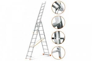 Аренда трехсекционной 6 метровой лестницы Алматы