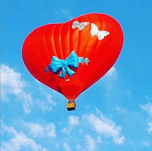 Аренда воздушного шара в форме сердца Алматы